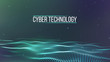 Background 3d grid.Cyber technology Ai tech wire network futuristic wireframe. Artificial intelligence . Cyber security background Vector illustration