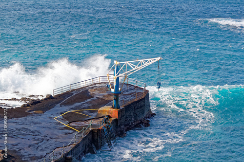 Foto op Plexiglas Canarische Eilanden Harbour at El Pris fishing village, Tenerife, Spain