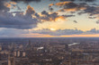 Aerial view of dramatic sky over London