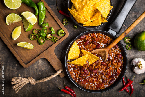Chili con carne Canvas Print