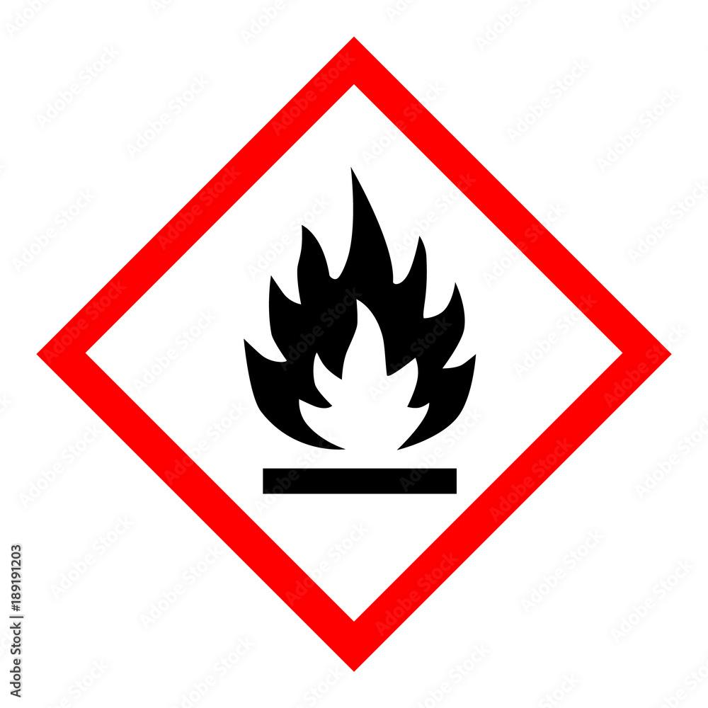Fototapeta Flammable hazard icon