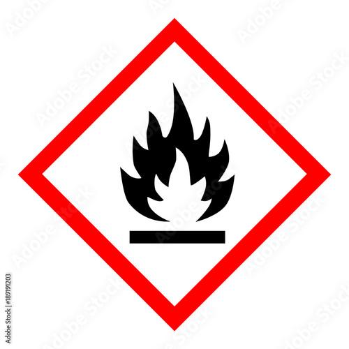 Obraz na plátně  Flammable hazard icon