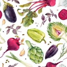 Watercolor Vegetable Vector Pa...