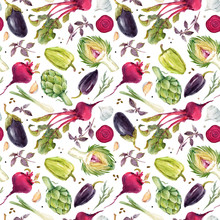 Watercolor Vegetable Vector Pa...