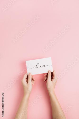 Photo Valentine's Day composition