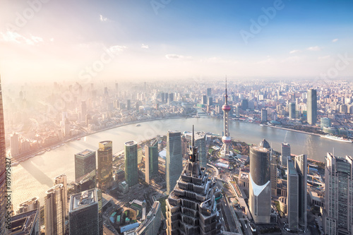 Aerial View of Shanghai Cityscape Poster