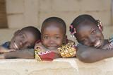 Fototapeta Łazienka - Gorgeous African Black Children Portrait Smiling and Laughing