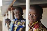 Fototapeta Łazienka - Hope for African Children - Beautiful boys and girls outdoors