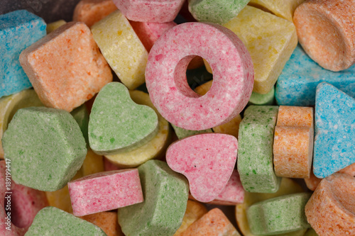Foto op Aluminium Snoepjes Разноцветные конфеты леденцы
