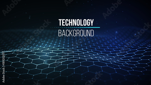 Fotografia  Abstract technology background