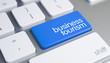 Leinwandbild Motiv Business Tourism - Caption on Blue Keyboard Key. 3D.