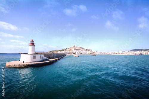 Montage in der Fensternische Leuchtturm Lighthouse in Ibiza