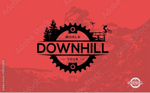Obraz na płótnie Mountain biking