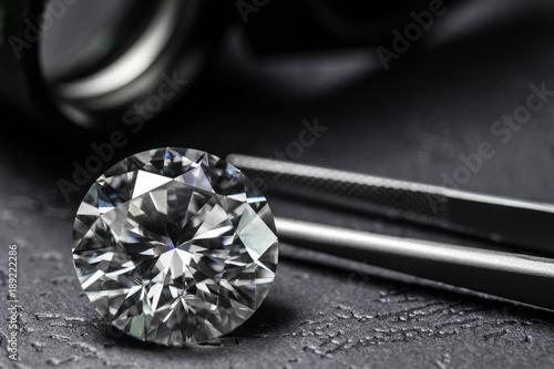 Fototapeta Diamond big carat luxury background