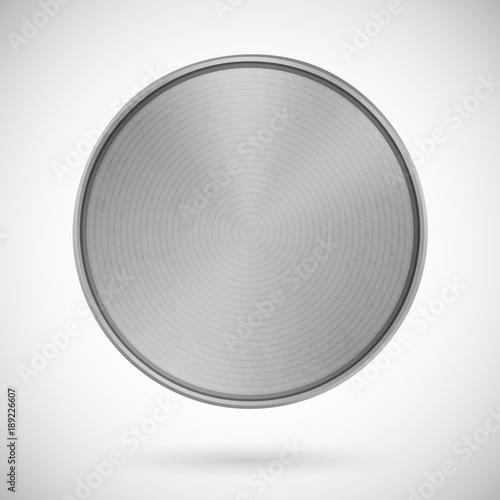 Valokuva  Blank Medal Metallic Template Silver