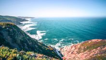Gray Whale Cove Beach And Devils Slide Park In California