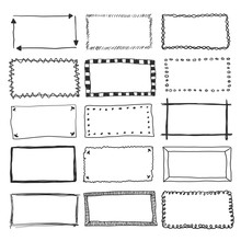 Vector Doodle Frame Borders