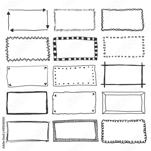 Vector Doodle Frame Borders Wall mural