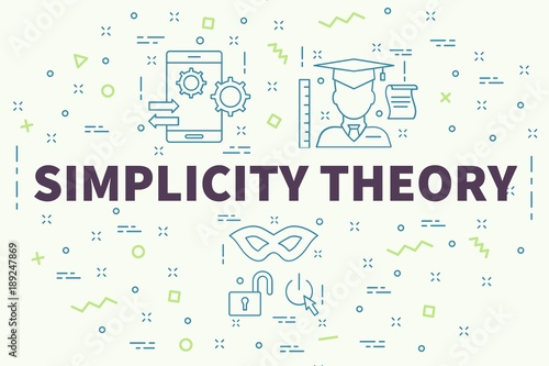 Conceptual business illustration with the words simplicity theory Canvas Print