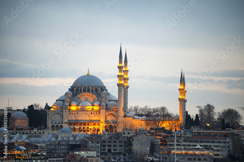 Canvas Prints Turkey Profile view from Suleymaniye mosque which was made by Sinan the architect