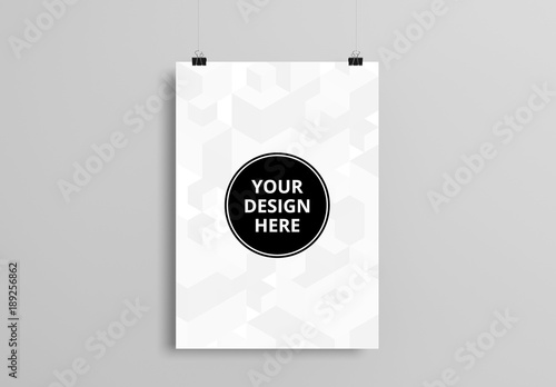 hanging poster mockup 1 buy this stock template and explore similar