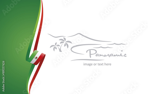 Fotografija  Mexico abstract brochure cover poster background vector