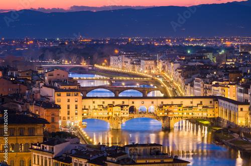Plakat Linia horyzontu Florencja, Włochy