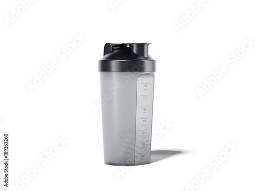 Fotografia  Transparent shaker for the protein cocktail. 3d rendering