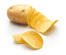Potato Slice Into Potato Chips...