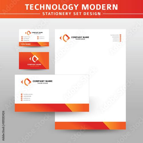 Fototapeta Technology Modern Vector Stationery Set Design obraz