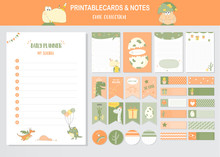 Set Of Animals And Cute Vector...