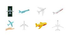 Airbus Icon Set, Flat Style