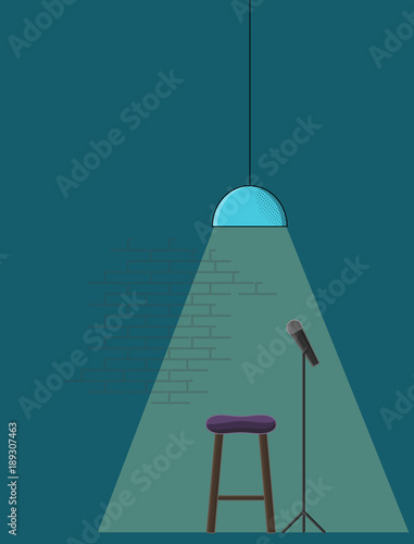 Pleasing Open Microphone Standup Comedy Poster Template Line Art Gmtry Best Dining Table And Chair Ideas Images Gmtryco
