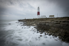 A Stormy Afternoon At Portland Bill In Dorset.