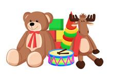 Toys Set Santa Claus Factory V...