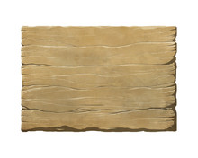 Colorful Realistic Wooden Panel, Plank Or A Sign. Fantasy Game Interface Element Or Illustration.