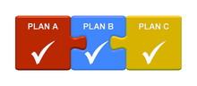 3 Puzzle Buttons Zeigen Plan A...