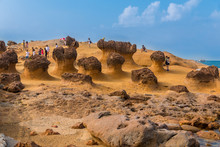 Visitors At The Yehliu Geopark...