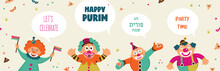Purim Banner Template Design, ...