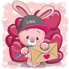 Valentine Card With Cute Carto...