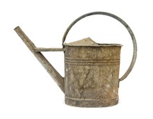 Old Rusty Watering Can Isolate...