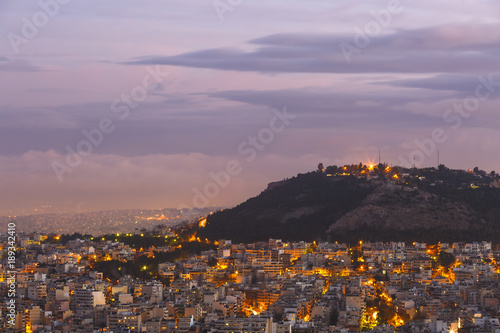 Printed kitchen splashbacks Athens View of Athens from Lycabettus hill at dawn, Greece.