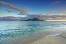 View Of The Nevis Peak Volcano...