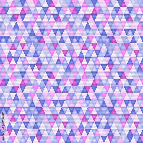Obrazy wieloczęściowe fioletowe trójkąty
