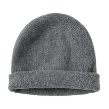 Gray Worm Winter Woolen Hat Cap Flat Isolated On White