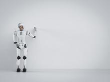 Robot With Blank Wall