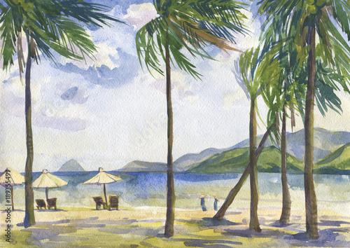plaza-z-palmami-pejzaz-morski-wietnam