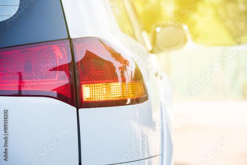 tail lamp of the car Wallpaper Mural