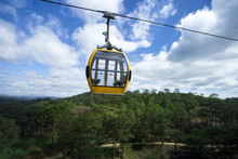 A Scenic Cable Car With Colorf...