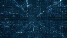 Digital Binary Code Matrix Bac...